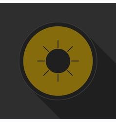 dark gray and yellow icon - sunny vector image