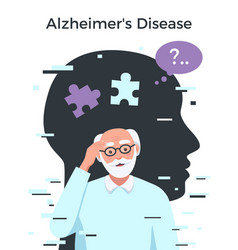 Dementia flat concept vector