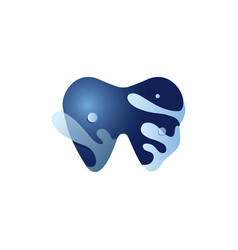 dental with water logo design vector image