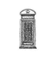Dotwork london telephone box vector
