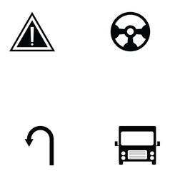 Driving school icon set vector