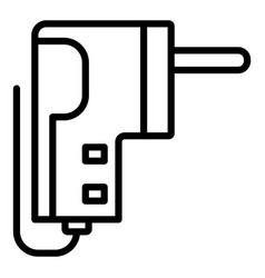 eco safe plug icon outline style vector image