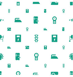 electric icons pattern seamless white background vector image