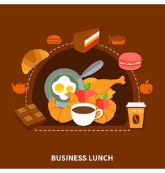 Fast Food Business Lunch Menu Poster vector image