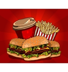 Fast food vector image