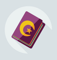 Flat modern design with shadow icons quran vector