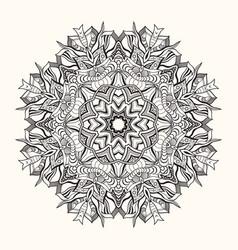 floral mandala decorative round ornament vector image