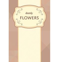 Flower garden card 03 1 vector
