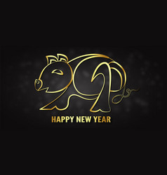 For happy new year 2019 its year of the pig vector