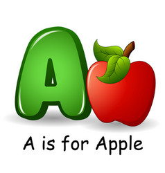 Fruits alphabet a is for apple vector