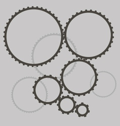 Gears in the gearbox vector