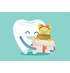 Gift for sale dental vector image
