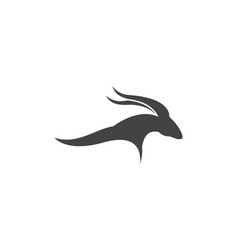 goat logo template vector image