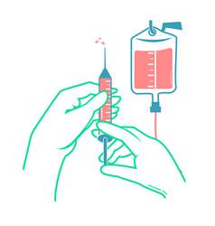 Hands a nurse vector