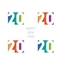 happy new year 2020 banner brochure or calendar vector image