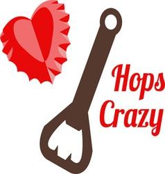 Hops Crazy vector