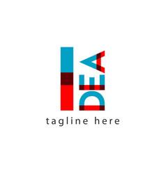 Idea logo letter template design vector