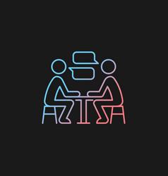 Interpersonal communication gradient icon vector