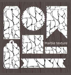 Labels for sale with marble vector