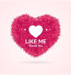 Like me thanks you social media concept vector