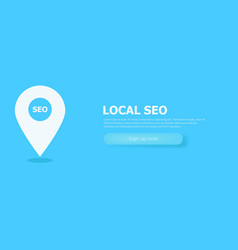 local seo marketing banner icon vector image