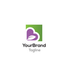 Love healthy logo template vector