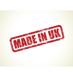 made in uk stamp vector image