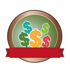 Money symbol isolated icon vector