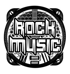 Monochrome pattern on theme of rock music vector