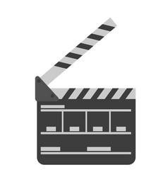 movie clapper board cartoon vector image