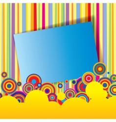 Multicolored banner vector