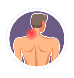 Neck injury pain or ache isolated icon medicine vector