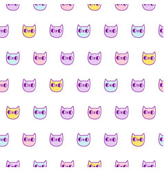 neon cats pattern vector image