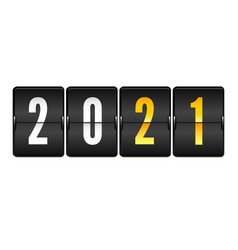 new year scoreboard numbers 2021 on mechanical vector image
