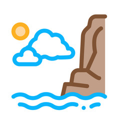 night sea icon outline vector image