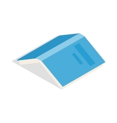 Open book with blue cover icon isometric 3d style vector