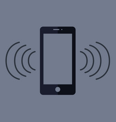 phone that rings vector image