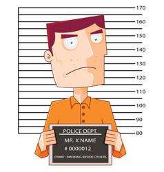 prisoner number twelve with police data board vector image