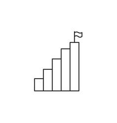 Profit chart icon vector