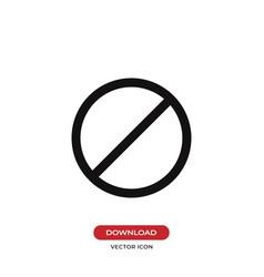 prohibition icon stopforbidden symbol vector image