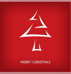 red abstract merry christmas tree arrow vector image