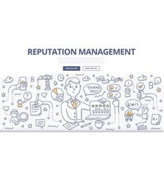 reputation management doodle concept vector image