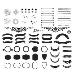Retro and vintage design collection set 64 vector