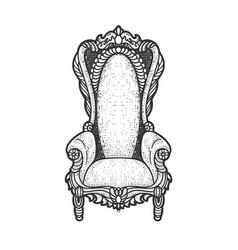 Royal throne sketch vector