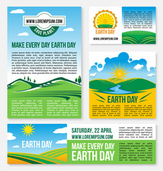 save planet nature templates for earth day vector image