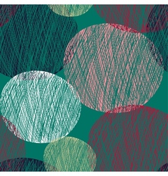 Seamless abstract circle pattern vector image vector image