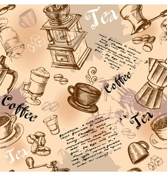 Seamless coffee vector image