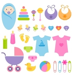 set of baby elements vector image
