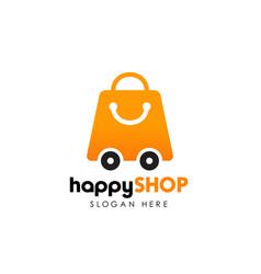 shop delivery logo design template shopping logo vector image