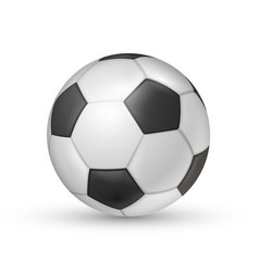 soccer ball icon football game sport for vector image